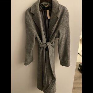 New J. Crew Gray Wool Coat sz L